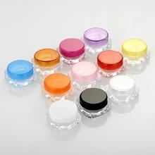15pcs/lot 5g Cosmetic Empty Jar Pot Trials Samples Cream Jar for Makeup plas emp