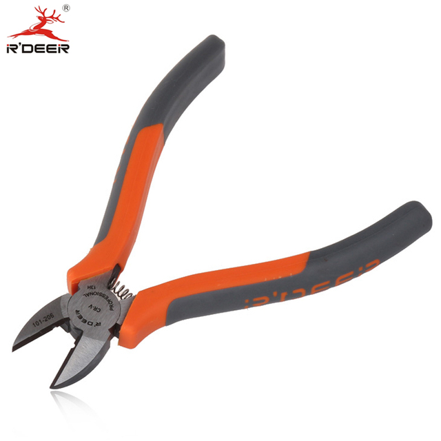 RDEER 6''/150mm Diagonal Pliers CR-V Side Cutters Multifunction For Cutting Wire Stripper Electric Tool Hand Tool
