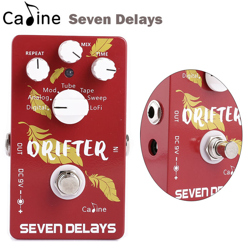New Caline Guitar seven Delay Effects Pedal Digital Circuit Design Guitar Parts & Accessories cp 11 compressor guitar digital delay pedal puffer fuzz guitar effects guitar digital delay pedal effect pedal