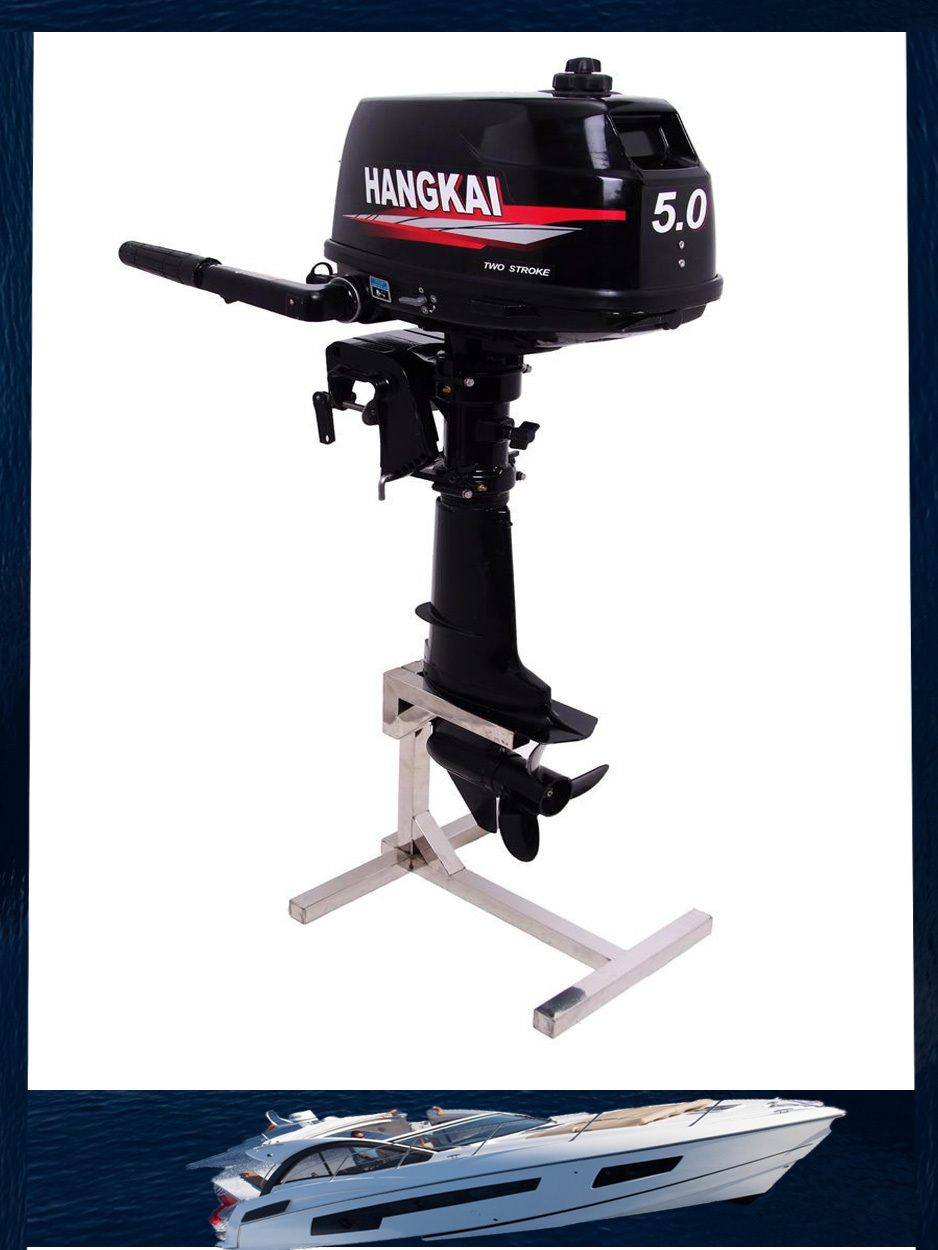Promotion new hangkai outboard motor 5 0horse power 3 7kw for New outboard boat motors