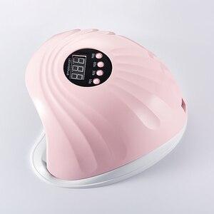 Image 4 - SUN5XPLUS LED tırnak lambası tırnak kurutma makinesi için 108W UV lambası tırnak makinesi araçları kür manikür jel vernik buz lambası sensörü ile zamanlayıcı