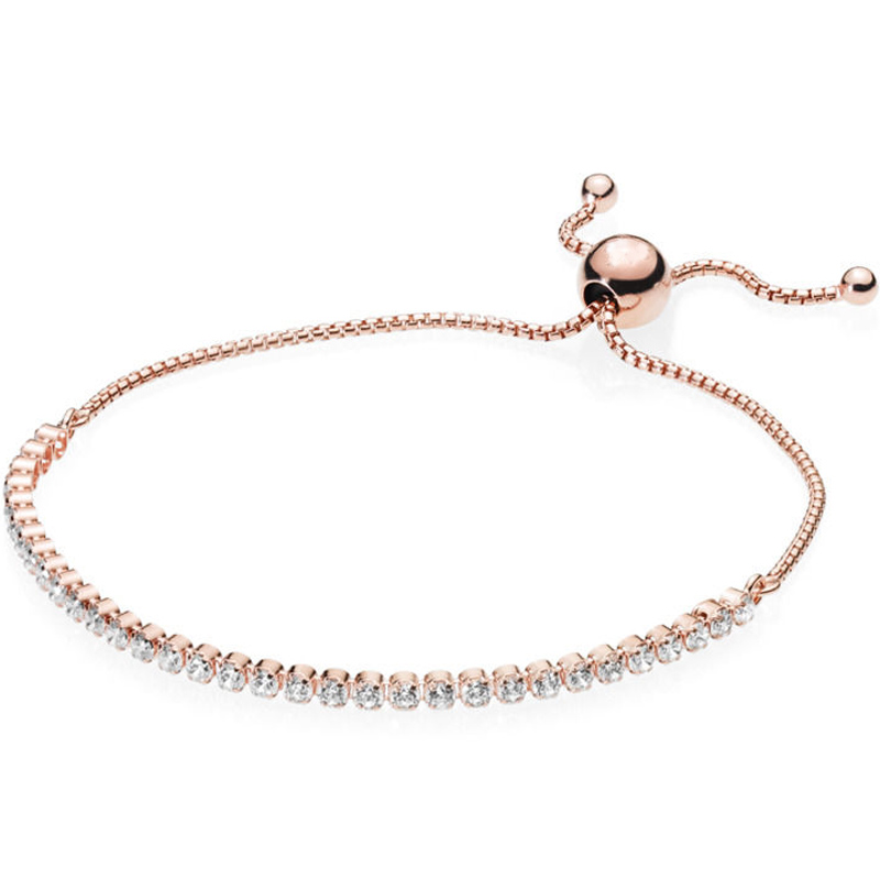 27fad89bf Shine Modern Lovepods Floating Grains Classic Tennis Sliding Clasp Bracelet  Fit Pandora Bangle 925 Sterling Silver Bead Charm-in Bangles from Jewelry  ...