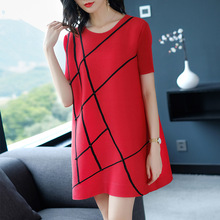 Plus Size Mini Dress Women 2018 Summer Casual Loose A Line Vestido Fashion  O Neck Short 19c48ff6e6db