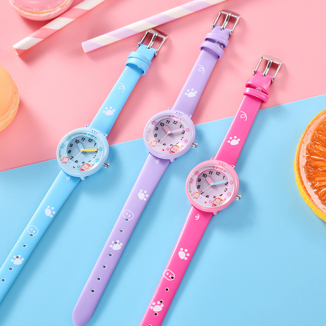 KEZZI Lovely Cartoon Pig Children Watches Creativity Numerals Dial Kids Watch Students Girls Quartz Wristwatch Relogio infantil