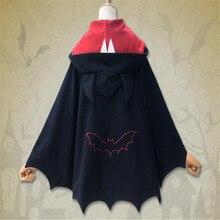 Batman cosplay cloak Halloween Devil Horn Women's Poncho Coat Cute Black Hoodies  Winter  Batwing costume CS327159