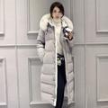 Vendas quentes mulheres casaco 2016 Mulheres da moda casaco de Inverno Feminino magro longo Para Baixo algodão Amassado Casaco Mulheres Hoodies Parkas Mais tamanho