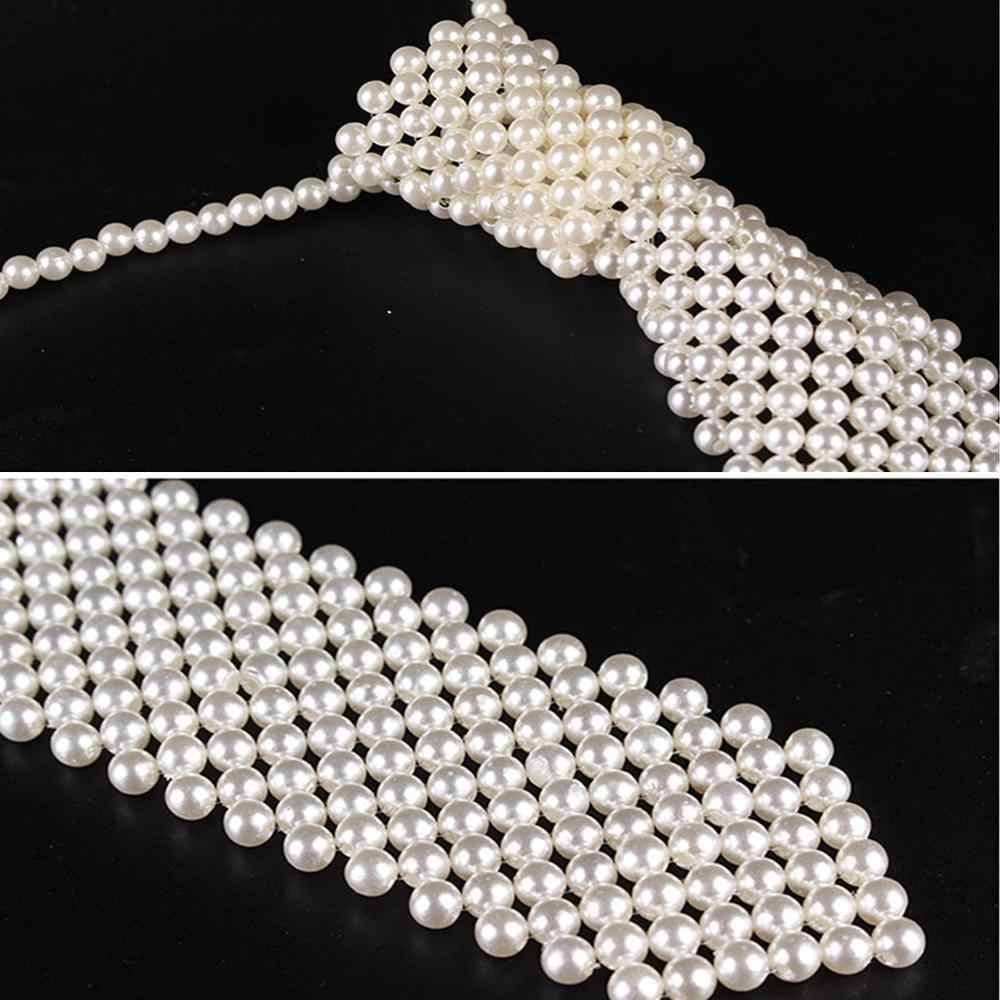 M MISM תוספות חדש 2019 יוקרה פניני צוואר עניבת עבור נשים בנות בעבודת יד אריגת גבירותיי נסיעה זיעה שמלת חולצה שרשרת צוואר עניבה