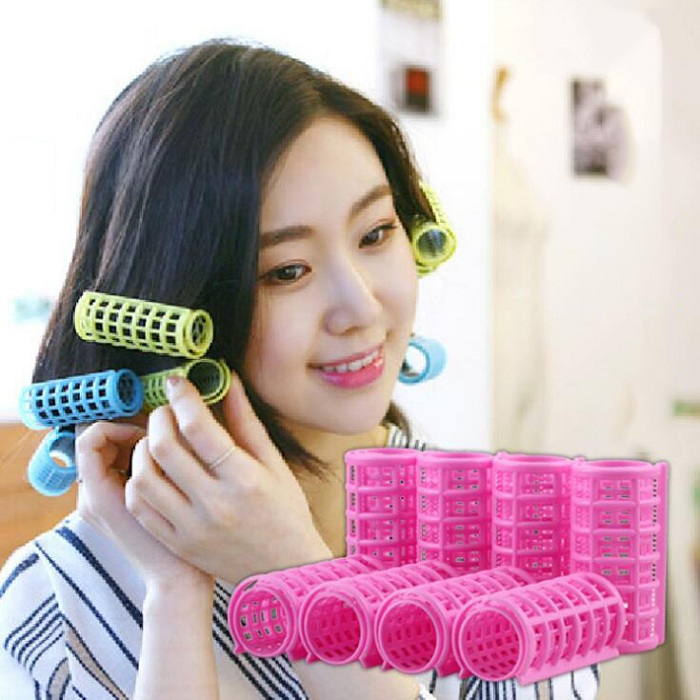 30mm hair curler Roll roller Twist Hair Care Styling stick DIY tools harmless safe plastic lady girls female comfortable large