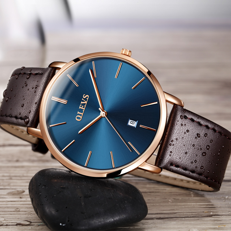 Quartz genuine leather strap wrist watche 21