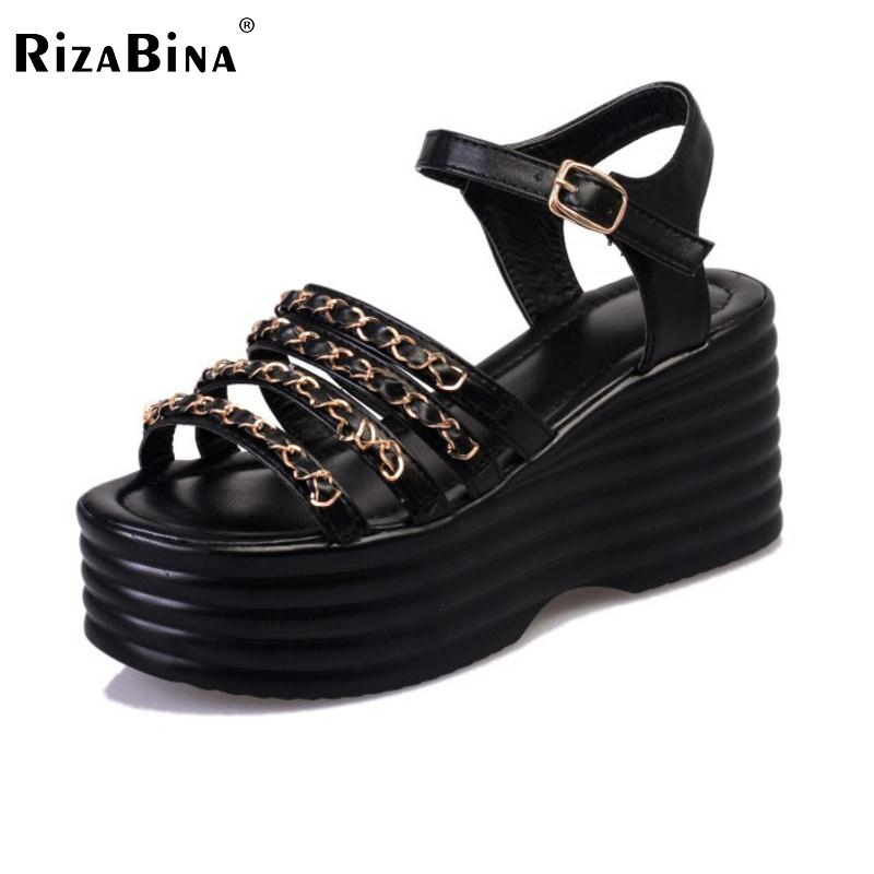 Women High Wedges Sandals Open Toe Leisure Shoes Women Ankle Strap Agrafe Gladiator Sandals Platform Women Footwear Size 35-39 women wedges sandals 2016 sweet casual ladies platform gladiator sandals open toe flats dress shoes woman size 35 39 pa00366