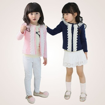 Toddler Baby Kids Girls Spring Autumn Coats Child Casual Lace Outwear Long Sleeves Tops Jacket Платье