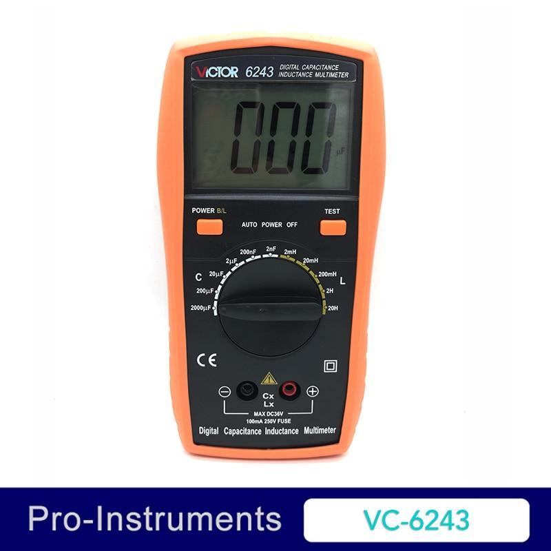 Victor VC6243 Professional Victor Inductance CAPACITANCE LCR Meter Digital Multimeter Resistance Meter Null victor 6050 digital clamp meter