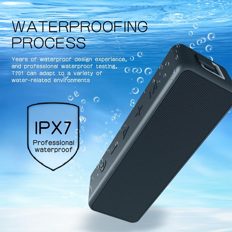 VTIN 5.0 haut-parleur Bluetooth sans fil IPX7 étanche Portable boîte de son rechargeable avec son stéréo fort riche haut-parleur de fête basse