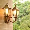 HAWBERRY LED наружный водонепроницаемый двойной светильник с головкой европейский домашний сад балкон Ретро настенный светильник дверь настенн...