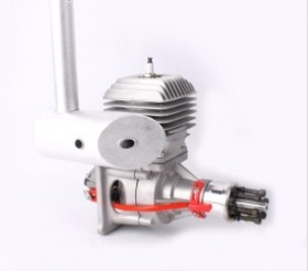 DJ80-V2 80CC Gas Engine/ Petrol Engine with Single Cylinder for RC Gas Airplane dla180 cnc processed gasoline engine petrol engine 180cc for gas airplane with double cylinders