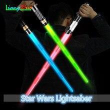 Star Wars lightsaber Laser Sværdet Indtrækbare børns legetøj Sværdet lysende lydeffekter Props Drenge og piger udendørs