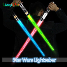 Star lightsaber Laser The sword Retractable Childrens Toys Sword luminous Sound Effects Props Boys And Girls Outdoor