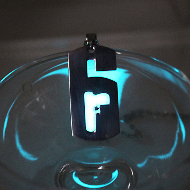 Glowing necklace Punk Rainbow Six Siege Pendants Necklaces GLOW in the DARK amulet gift  2