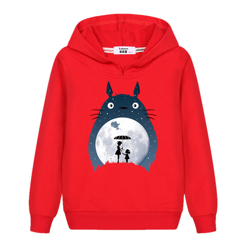 Girl's totoro Casual Sweatshirt Long Sleeve Fall Winter Hoodie Kids Fashion Cartoon pullover New Cotton Coat 2