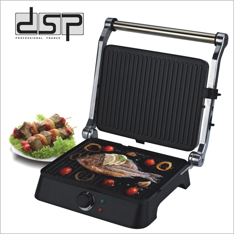 DSP Indoor Grill Fast Heat Up Electric Griddle for Panini, BBQ, SandwichDSP Indoor Grill Fast Heat Up Electric Griddle for Panini, BBQ, Sandwich