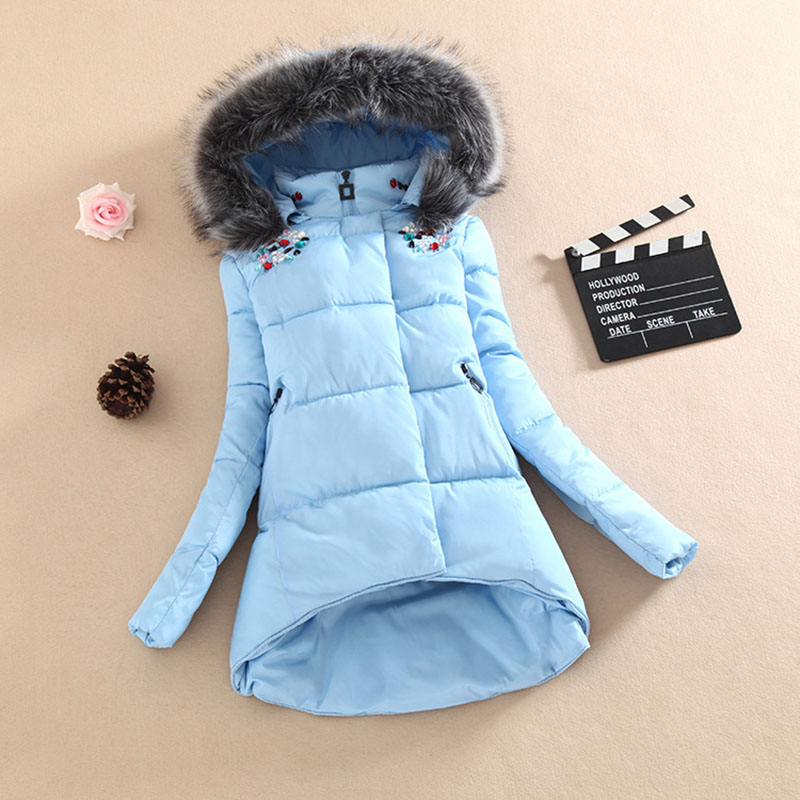 New 2016 High Quality Winter Jacket Women Regular Solid Zipper Slim Full Cotton Coas Fashion Warm