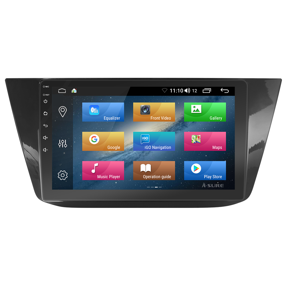 Android 8.1 10 Zoll 8 core VW Tiguan GPS DAB + 4G DSP WIFI IPS BT 56