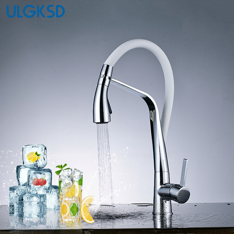 ULGKSD Kitchen Faucet Vanity Sink 2- Models Sprayer Nozzle Hot and Cold Mixer Tap Single Handle Deck Supported Para Kitchen ulgksd bathroom faucet dual switch deck mount hot and cold water mixer tap para vanity sink faucets mixing valve