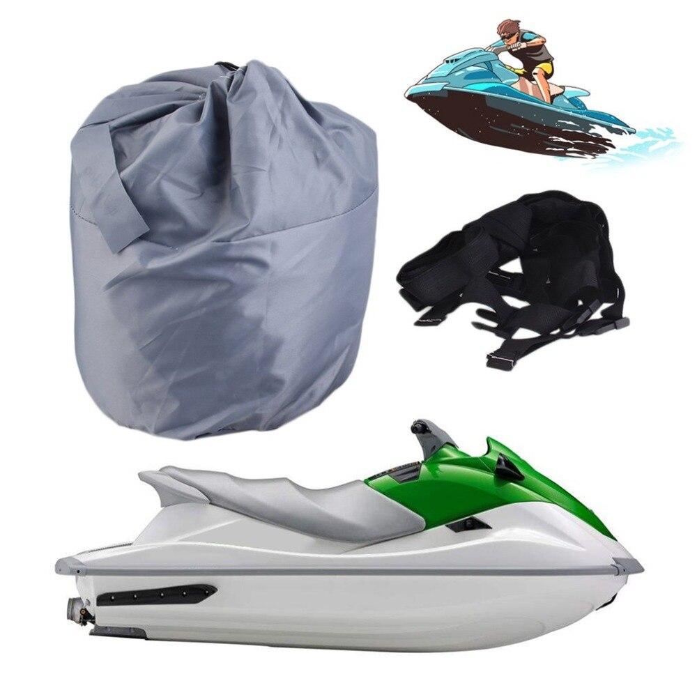 Couverture de bateau hors-bord ultra-robuste pour 136-145 pouces Ski de poisson remorquable v-coque résistant aux intempéries UV protégé résistant à l'eau