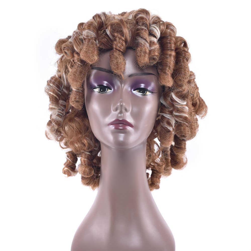 Soowee 4 цвета красные черные синтетические волосы парики африканские кудрявые волосы термостойкие волокна волос Косплей парики для черных женщин и мужчин