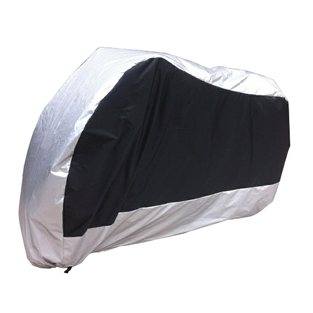 AUTO Silver Black Motorcycle Motorbike Street Bike Scooter Waterproof Water Resistent Rain UV Protective Breathable Cover