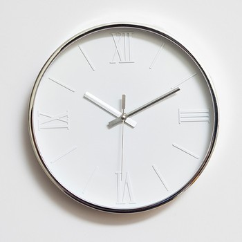 "12"" mute quartz Roman numerals wall clock Living room clock Home decoration"