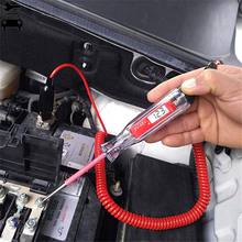 Đa Năng Màn Hình LCD Kỹ Thuật Số Xe Ô Tô Mạch Bút Thử Điện Đầu Đo Ô Tô Công Cụ Chẩn Đoán 5 48V Điện Đèn Cầu Chì Kiểm Tra Điện Áp bút