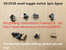 Original new 100% SS12F20 small toggle switch 3pin 2 stalls horizontal handle sliding switch pin ear toys(China)