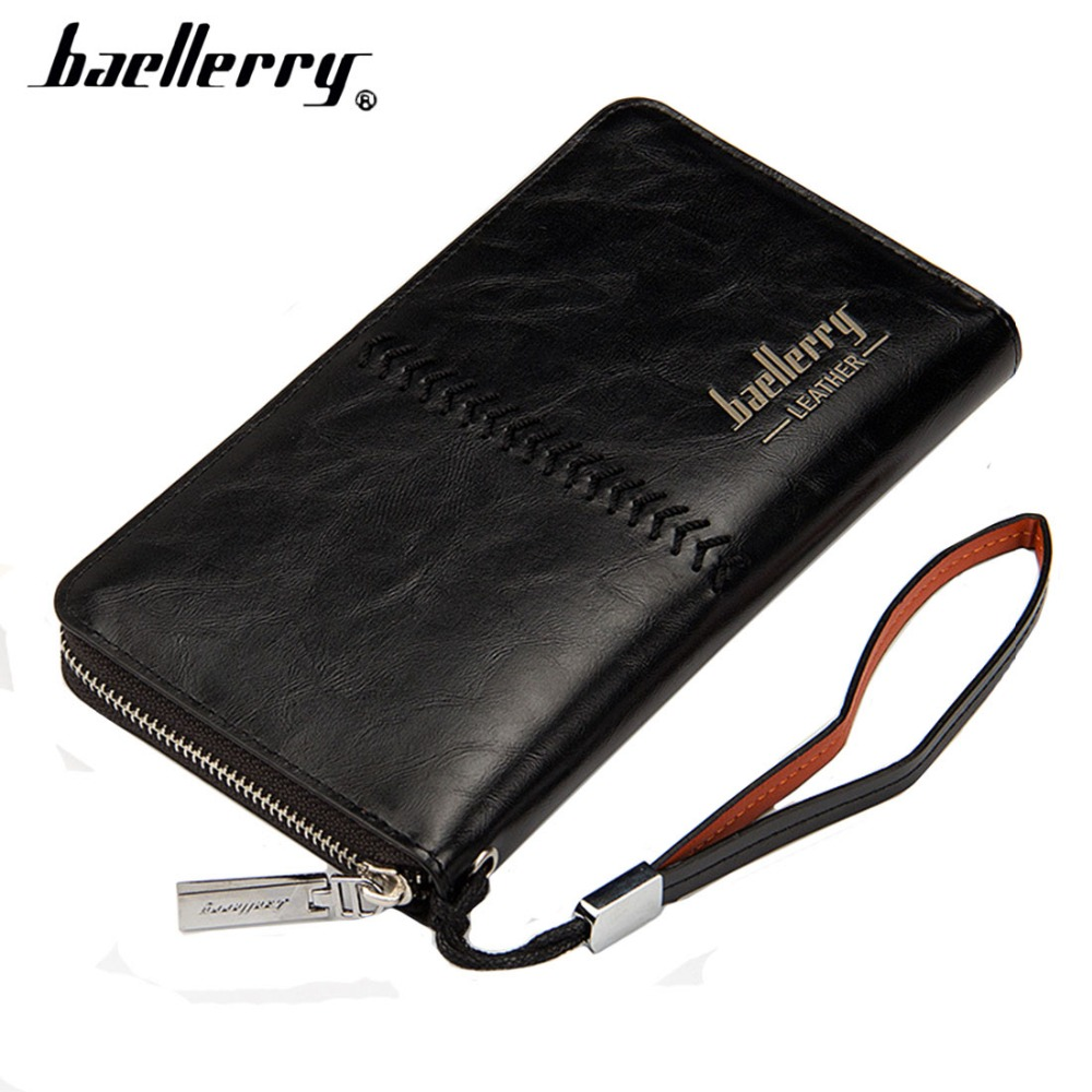 Dolland Slim Minimalist Wallet ID Card Holder with Keyring Leather Wallet Pocket Keyring Purse,Black