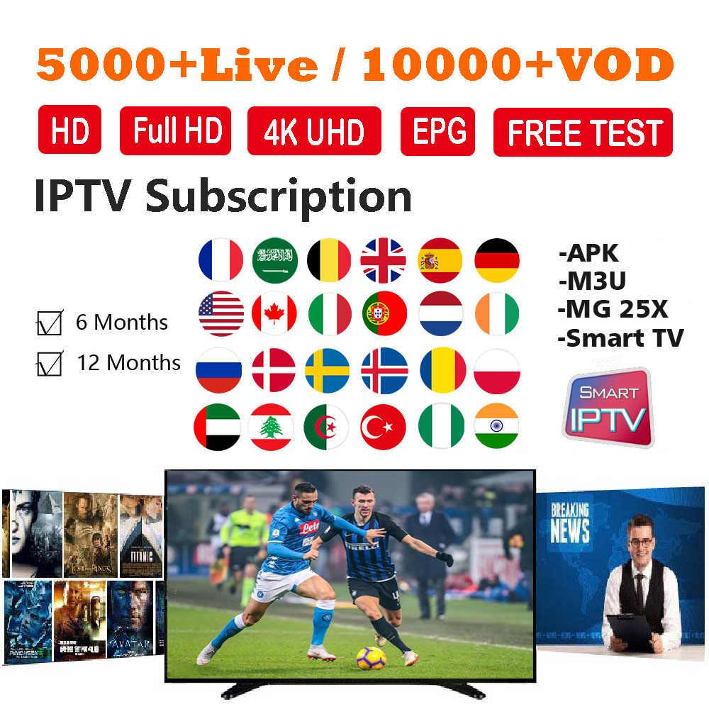 Iview IP ТВ подписка на IPTV, французский арабский, Английский Голландский Испания 5000 + Live 10000 + VOD 4 K qhd ТВ посредством APK IP ТВ M3U Смарт ТВ с разрешением Full HD
