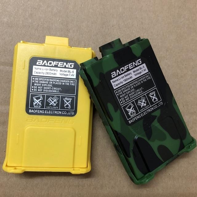 UV 5R bateria de rádio em dois sentidos BL 5 7.4v 1800mah/3800mah bateria para UV 5RA UV 5RE garantia 1 ano bateria