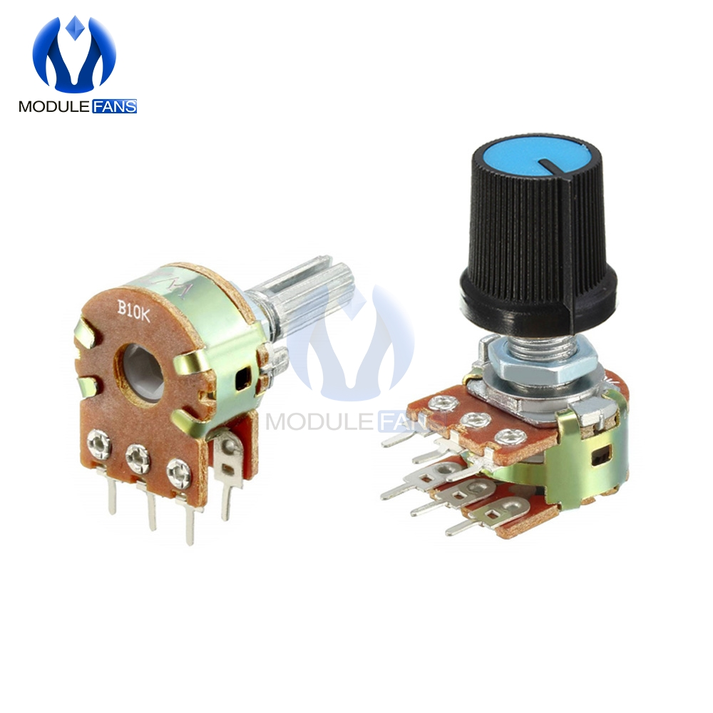 5PCS B1K B2K B5K B10K B20K B50K B100K B250K B500K B1M Potentiometer Resistor Linear Taper Rotary Cap Knob Ohm Diy Electronic(China)