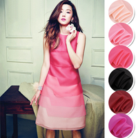 135CM Wide 12MM Pink Red Black Solid Color Silk Organza Fabric for Summer Bubble Dress Shirt Clothes JH149