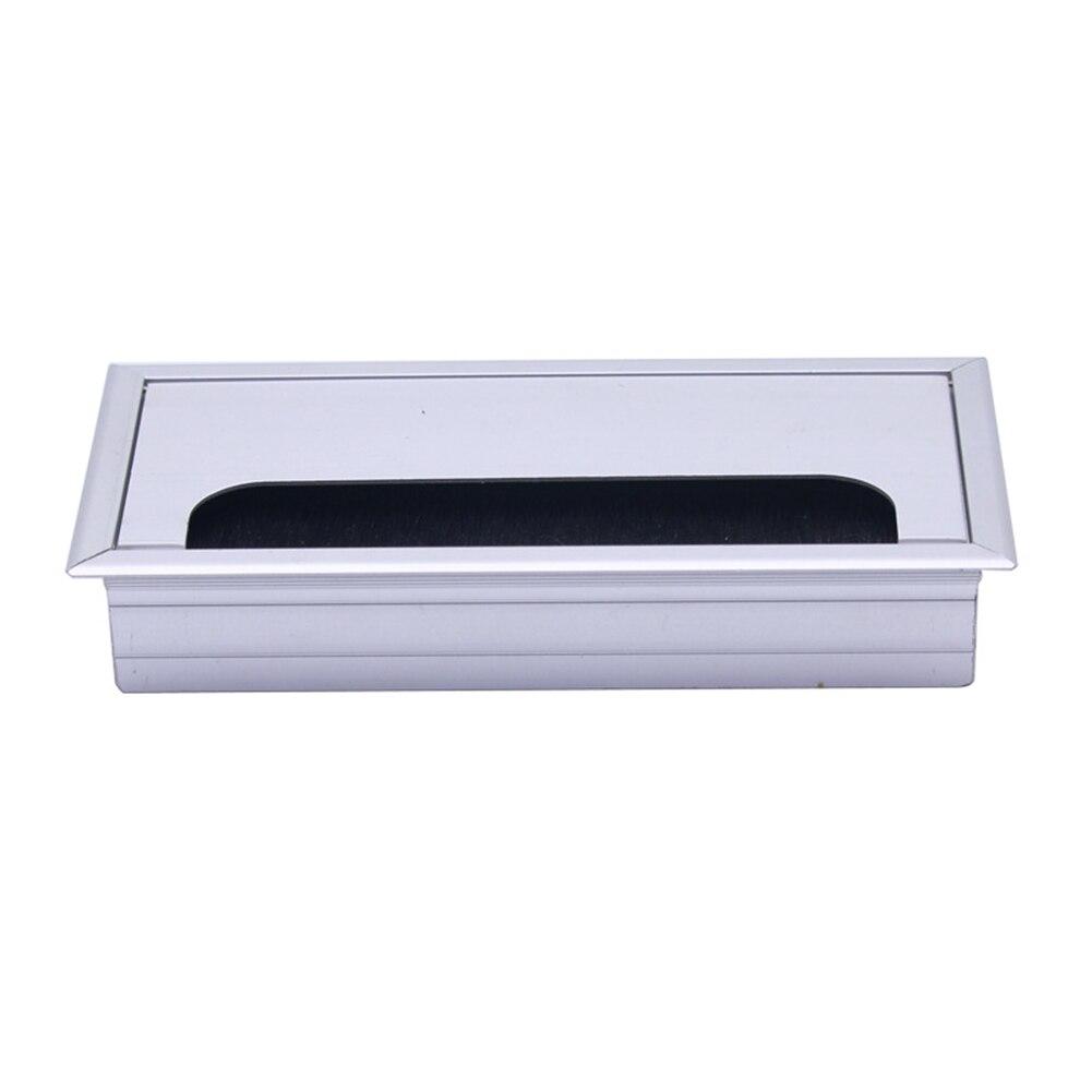 Aluminum Alloy Square Wire Hole Cover Desktop Desk Threading Box LO88