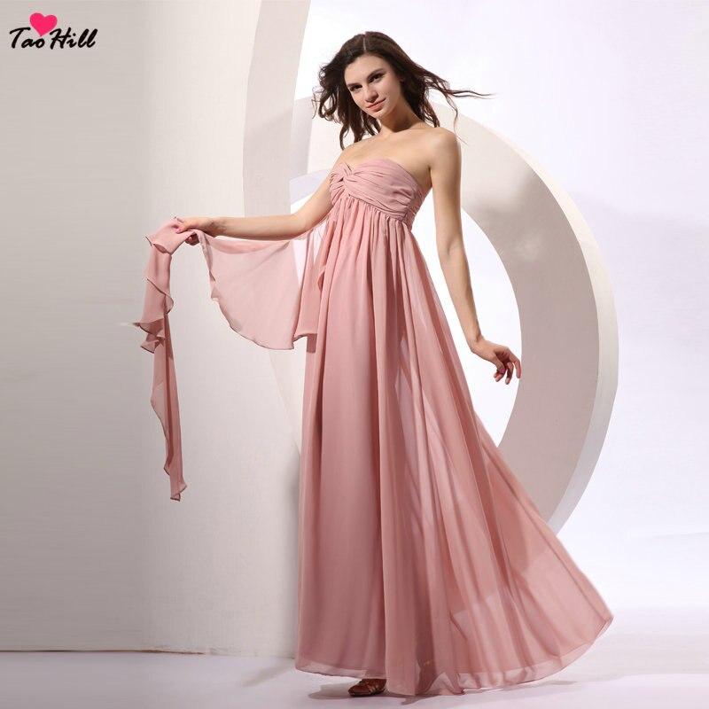 Pink Wedding Dresses 2019: TaoHill Wedding Guest Dresses 2019 A Line Strapless