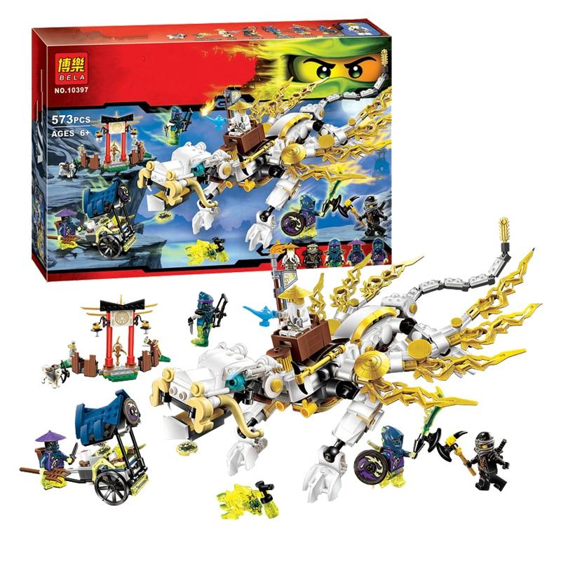 Juego de construcción Ninjago maestro WU Dragon Ninja Thunder espadsman bloques de construcción de juguete 70734 Compatible con Legoe