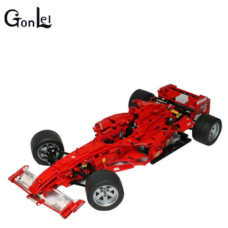 (GonLeI)  3335 Technic F1 Racer building bricks blocks Toys for children Game Car Formula 1 Compatible with Decool