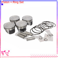 4x Pistons Rings Set 81mm 0.00 STD For AUDI A4 / A4 Avant Quattro A3 S3 A6 TT VW Beetle Golf MK4 Jetta Bora Passat B5 Polo