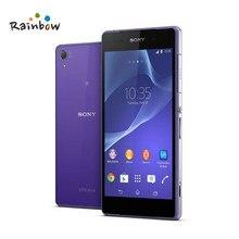 Sony – smartphone Xperia Z2 D6503 débloqué, téléphone portable, GSM, 4G, LTE, Android, Quad Core, 3 go de RAM, 16 go de ROM, écran de 5.2 pouces, caméra de 20 mpx