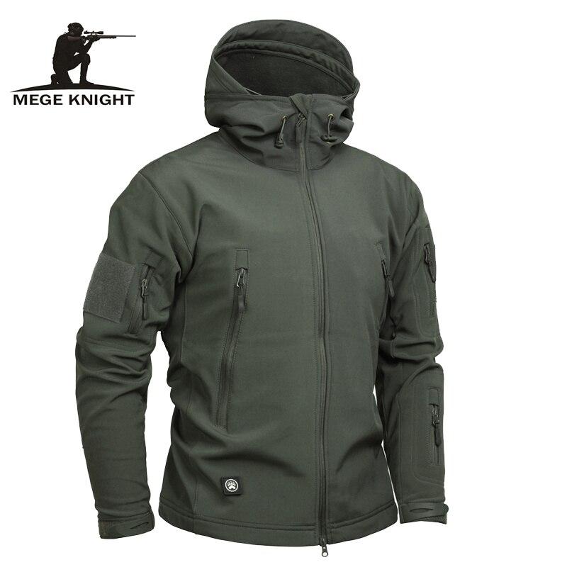 Mege брендовая одежда для мужчин Военная Униформа Куртка армии США Тактический Sharkskin Softshell осенне зимняя верхняя камуфляжная куртк