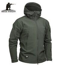 Mege Marque Vêtements Hommes Veste Militaire US Army Tactique Sharkskin Softshell Automne Hiver Survêtement Camouflage Veste et Manteau