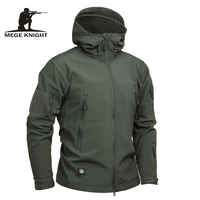 Mege Brand Clothing Men Military Jacket US Army Tactical Sharkskin Softshell Autum Winter Outerwear Camouflage Jacket