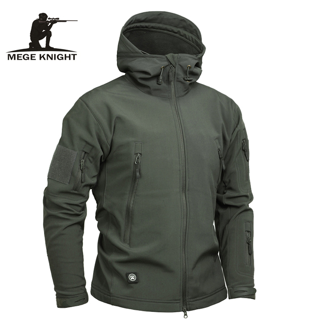 a578802aeb80 Mege Marke Kleidung Männer Military Jacke Us-armee Taktische Haifischhaut  Softshell Herbst Winter Oberbekleidung Camouflage