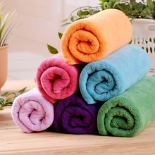 Vieruodis 35x75cm Towel Super Absorbent Soft And Quick-drying Hair Gym Bath Sport Travel Shower Big Coral Fleece Towels