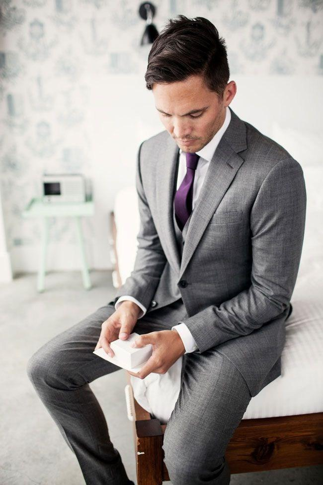 Latest Grey As The Official Wedding Suit Men Three Formal Suit The